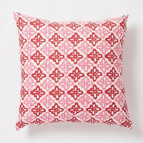 Pattee square Cushion by Molly Mahon - Pink