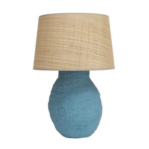 Blue Basket Weave lamp base Birdie Fortescue