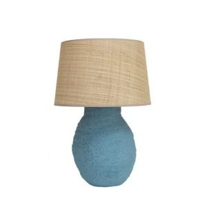 small blue lamp