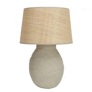 Taupe Basket Weave lamp base Birdie Fortescue