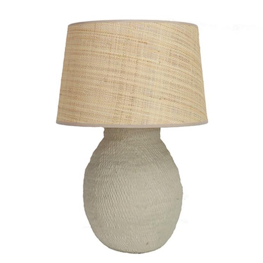 Taupe Basket Weave lamp base Birdie Fortescue