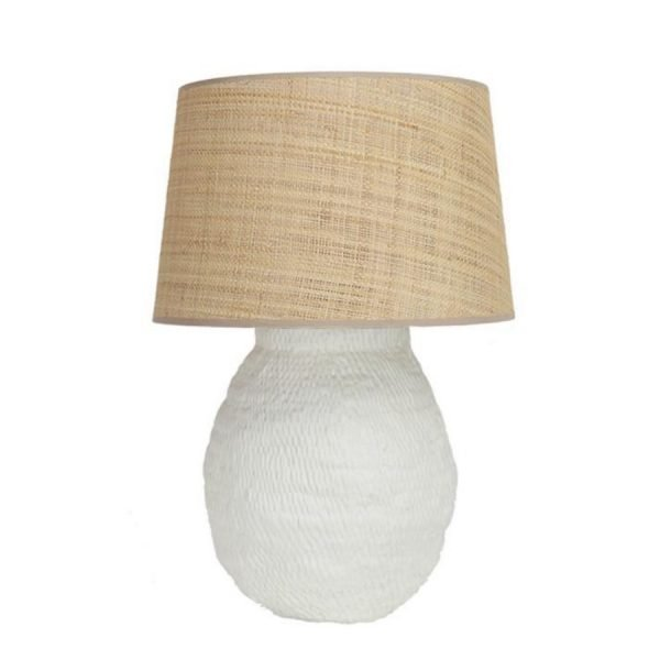 Off-white Basket Weave lamp base Birdie Fortescue