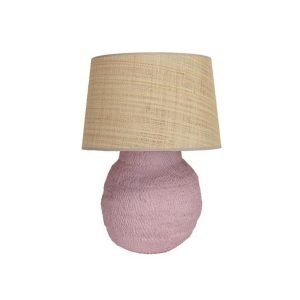 Small Basket Weave Lamp by Birdie Fortescue - Pink