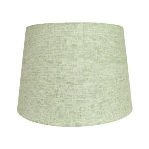 Crosshatch Block Printed green Lampshade by Birdie Fortescue