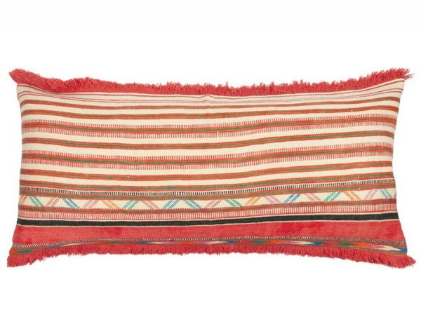 Birdie Fortescue Striped Wool red Khadi Cushion