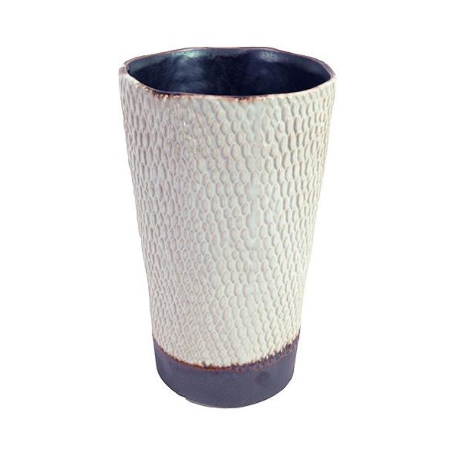 Potterie Textured Tall Pot by Birdie Fortescue - White