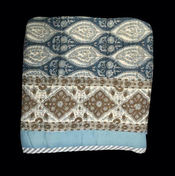blue bedspread quilt