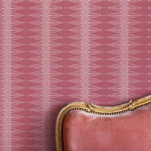 Indian Stripe wallpaper by Barneby Gates - Snug Red