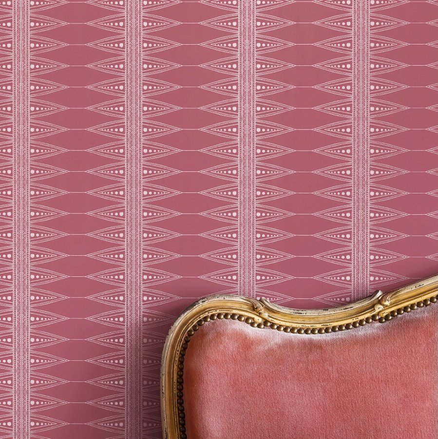 Indian Stripe wallpaper by Barneby Gates - Snug Red