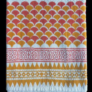 Guest towel by Block & Dye - Tangerine