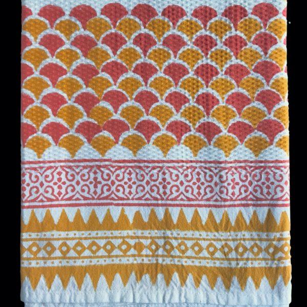 Guest towel by Block & Dye - Tangerine