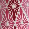 Double reversible bedspread by Block & Dye - Pink & Red