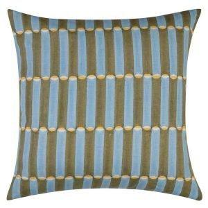 Molly Mahon green square Cushion