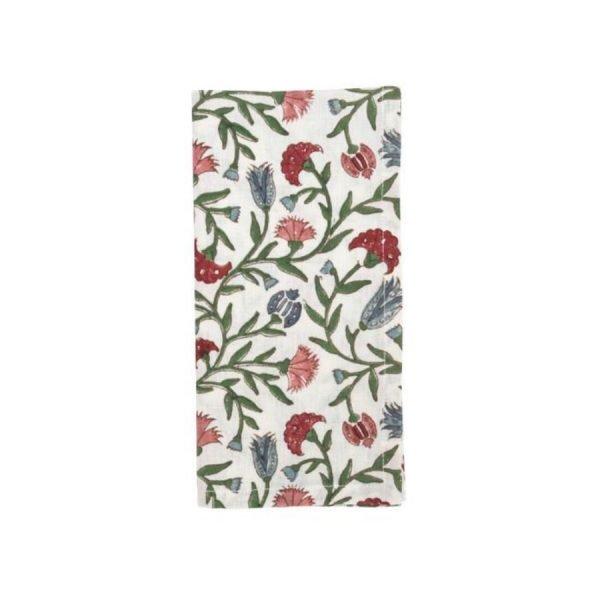 Arabesque floral napkin by Birdie Fortescue