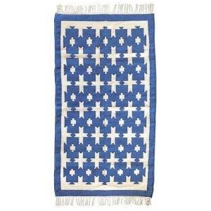 Blue Molly Mahon Chunky Cotton Rug