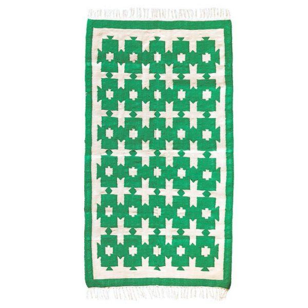 Molly Mahon chunky green cotton rug