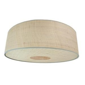 Seema Raffia Hanging Lampshade by Birdie Fortescue – Green