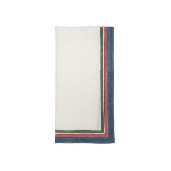 Serit border blockprint napkin by Birdie Fortescue