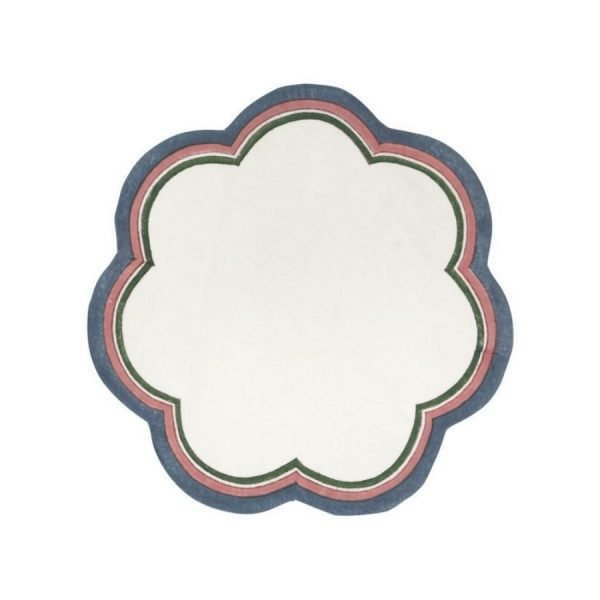 Serit Scalloped Placemat by Birdie Fortescue